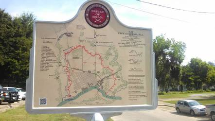 Photo of historic marker showing Battle of Selma