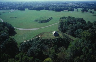 Arial photo of Moundville Archaeological Park